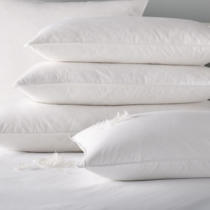 Duck feather filled pillow