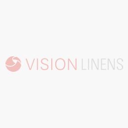 V Cotton Satin Band White Bistro Tablecloth