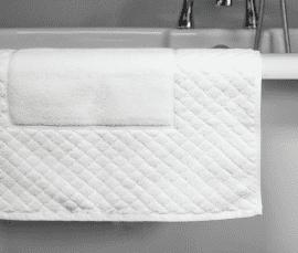 900 GSM Diamond Border 100% Cotton Bath Mat *Clearance*