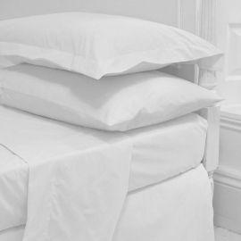 300 Thread Count 100% Cotton Sateen Queen Size Flat Sheet