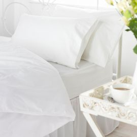 V200 100% Cotton Percale Fitted Sheets