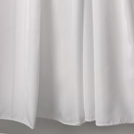 VE White Striped Shower Curtain
