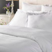 White extra large size 100% cotton satin stripe duvet cover