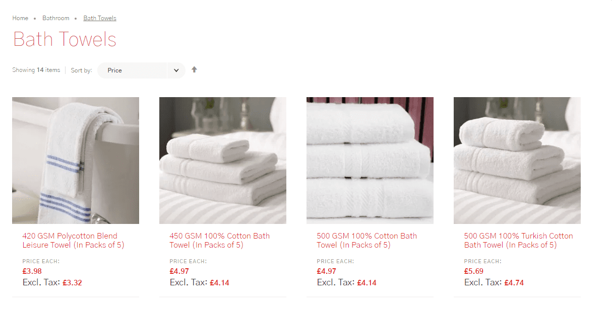 Non-members Vision Linens prices