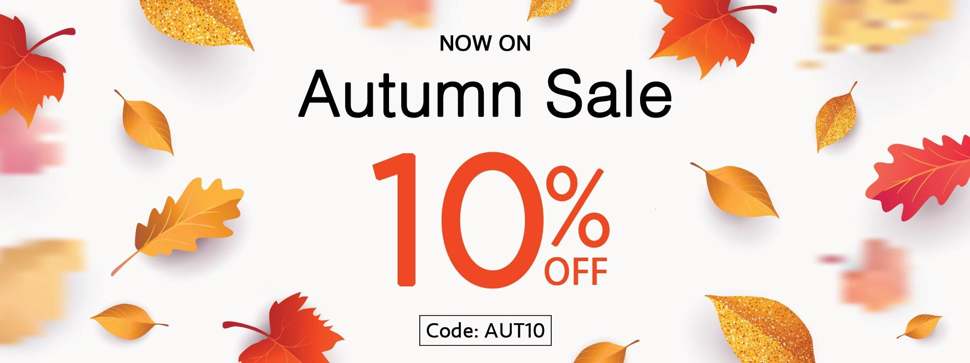 Autumn Sale - 10% Off Everything